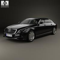 Mercedes-Benz S-Class (W222) Maybach 2016 3D Model