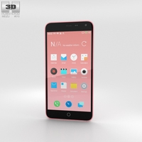Meizu M1 Note Pink 3D Model
