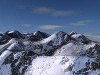 Snow mountain terrain 3D Model