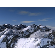 Snow mountain terrain 3D Model