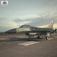 General Dynamics F-16C Block 52 Jet Plane 3D Model