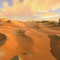 exterior desert landscape environment nature sunset 3D Model