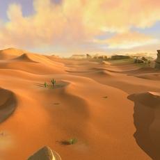 exterior desert landscape environment nature sunset 3D Model