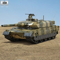 Type 10 Tank 3D Model
