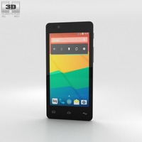 BQ Aquaris E4.5 White Phone 3D Model