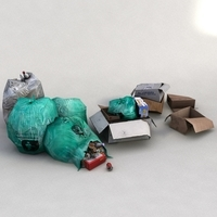 rubbish waste garbage 3D Model