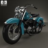 Harley-Davidson Panhead Hydra-Glide E F 1949 3D Model