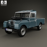 Land Rover Series I 107 Pickup 1958 3D Model