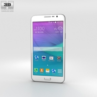Samsung Galaxy Grand Max White Phone 3D Model