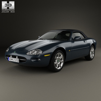Jaguar XK8 convertible 1996 3D Model