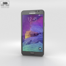 Samsung Galaxy Grand Max Black Phone 3D Model