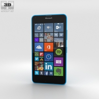 Microsoft Lumia 640 LTE Glossy Cyan Phone 3D Model