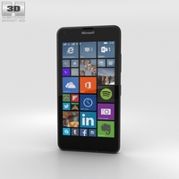 Microsoft Lumia 640 LTE Matte Black Phone 3D Model