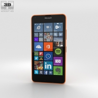 Microsoft Lumia 640 LTE Orange Phone 3D Model