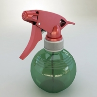 Spray plastic bottle 3D Model