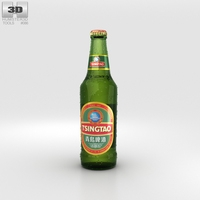 Tsingtao Beer Bottles 3D Model