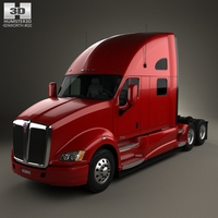 Kenworth T700 Tractor Truck 3-axle 2010 3D Model