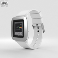 Pebble Time White 3D Model