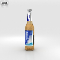 Snow Beer Bottle 3D Model