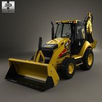 Caterpillar 420F Backhoe Loader 2014 3D Model