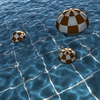 water animation swimming pool ocean sea 3D Model