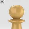 08 12 30 539 classic chess pawn white 600 0010 4