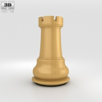 Classic Chess Rook White 3D Model