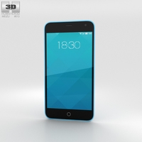 Meizu M1 Blue 3D Model