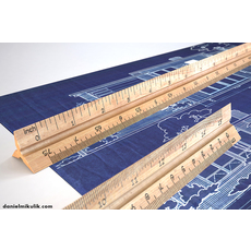 HD Wooden Ruler 6 real scale 3D Model