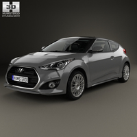 Hyundai Veloster Turbo with HQ interior 2014 3D Model