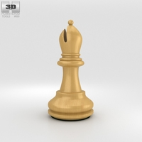 Classic Chess Bishop White 3D Model