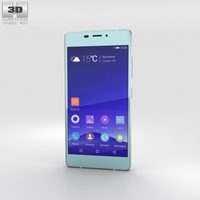 Gionee Elife S7 Maldives Blue 3D Model