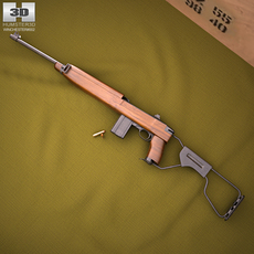 Inland M1A1 Carbine 3D Model