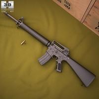 Colt M16A4 3D Model