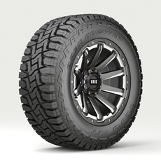 Off Road wheel and tire 4 3D Model