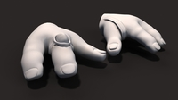 Monter cartoon hand 3D Model