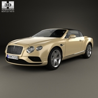Bentley Continental GTC 2015 3D Model