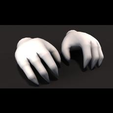 3D Monter cartoon hand 3D Model