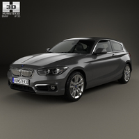 BMW 1 Series (F21) 3-door Urban Line 2015 3D Model