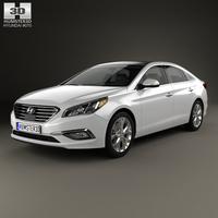 Hyundai Sonata (LF) with HQ interior 2014 3D Model
