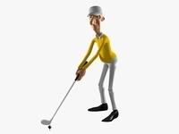 Golfer 3D Model