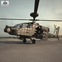 Boeing AH-64 D 3D Model