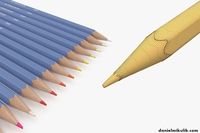HD Color Pencil Pack 3D Model