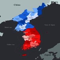 Korean Peninsula 3D Model