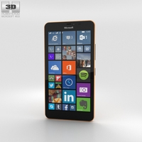 Microsoft Lumia 640 XL Orange 3D Model