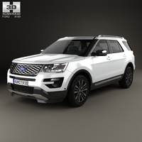 Ford Explorer (U502) Platinum 2015 3D Model