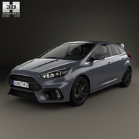 Ford Focus hatchback RS 2014 3D Model