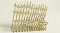 Ribbed bench 3D Model
