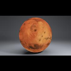 Mars 8k Globe 3D Model