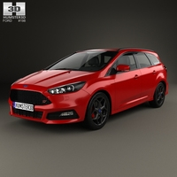 Ford Focus turnier ST 2014 3D Model